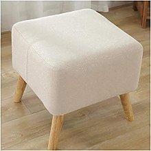 XIAOZHEN Footstool Footstool Ottoman Stool Solid