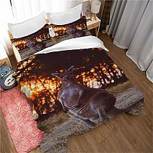 XIAZILH King Size Duvet Cover Set Easy Care And