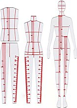 XIEHAIGE 4 Pcs Humanoid Clothing Measuring French