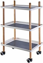 Xiesheng Coffee Table Storage Trolley Rolling Cart