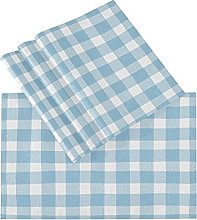 xigua 4PCS Placemats Table Mats,Blue And White