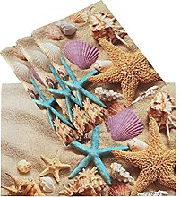 xigua 4PCS Placemats Table Mats,Nice Beach With