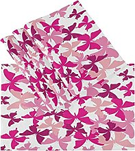 xigua 4PCS Placemats Table Mats,Red Butterfly