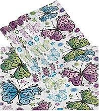 xigua 6PCS Placemats Table Mats,Art Butterfly