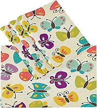xigua 6PCS Placemats Table Mats,Butterfly