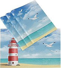 xigua 6PCS Placemats Table Mats,Lighthouse On The