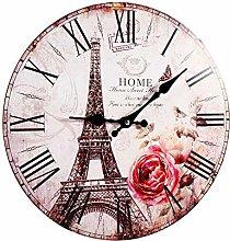 xiji Antique Wood Tower Clock, Wall Clock, Kitchen