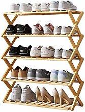 xilinshop Shoe Rack 5 Layers of Wood Color