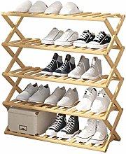 xilinshop Shoe Rack Folding Simple Bamboo Shoe