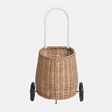Ximiko - Straw Wicker Basket Trolley