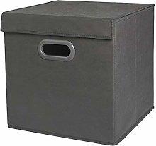 XIMIXI Dustproof Lidded Storage Cube Bin Folding