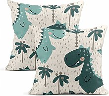 Xincow Set of 2 Cushion Covers Dinosaur Baby Boy