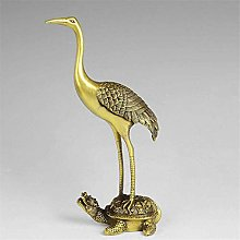 XINERJIA Statues Collectibles Crane Deng Turtle