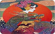 XINGAKA carpet bath mat,rug,balcony,Geisha With