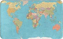 XINGAKA carpet bath mat,rug,Colored World Map -
