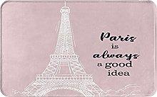 XINGAKA carpet bath mat,rug,Eiffel Tower With