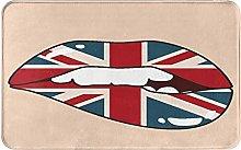 XINGAKA carpet bath mat,rug,England Lips With Face