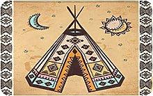 XINGAKA carpet bath mat,rug,Ethnic Tent With