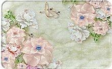 XINGAKA carpet bath mat,rug,Hummingbirds Art With
