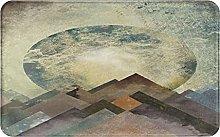 XINGAKA carpet bath mat,rug,Moon Stripes With