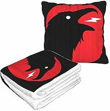 XINGAKA Travel and Throw Blanke,Crow Dark Evil