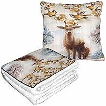 XINGAKA Travel and Throw Blanke,Deer Animal Theme