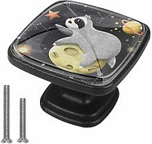 Xingruyun Bathroom knobs Cartoon Sloth Planet