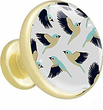 Xingruyun Cabinet knobs 4 pack birds wardrobe