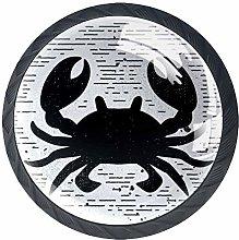 Xingruyun Cabinet knobs 4 pack Black Crabe