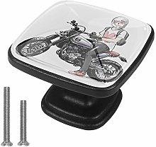 Xingruyun Cabinet knobs 4 pack Boy motorcycle