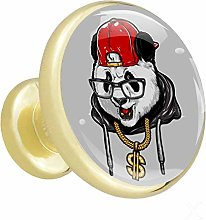 Xingruyun Cabinet knobs 4 pack Cartoon Panda With