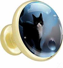 Xingruyun Cabinet knobs 4 pack Cat wardrobe knobs