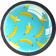 Xingruyun Cabinet knobs 4 pack Cute Banana