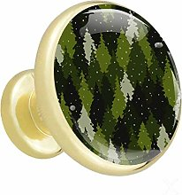 Xingruyun Cabinet knobs 4 pack Green woods