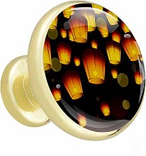 Xingruyun Cabinet knobs 4 pack Lantern wardrobe