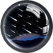 Xingruyun Cabinet knobs 4 pack Meteor Shower