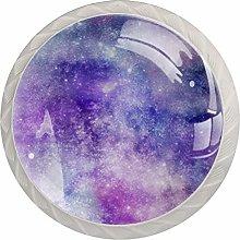 Xingruyun Cabinet knobs 4 pack Purple nebula