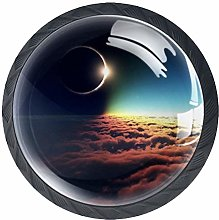 Xingruyun Cabinet knobs 4 pack Solar Eclipse