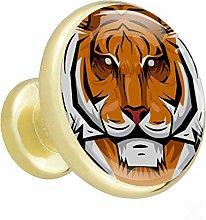 Xingruyun Cabinet knobs 4 pack Tiger wardrobe