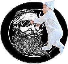 Xingruyun Circle Rug Bearded Man Round Floor Mat