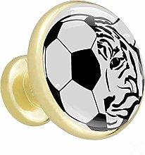 Xingruyun Cupboard knobs gold Football Tiger
