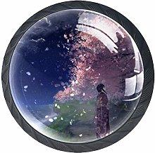 Xingruyun Drawer Knobs Anime Girl (152) Round