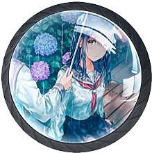 Xingruyun Drawer Knobs Anime Girl (174) Round