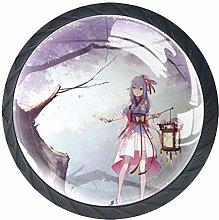 Xingruyun Drawer Knobs Anime Girl (185) Furniture