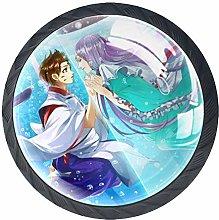 Xingruyun Drawer Knobs Anime Girl (356) Round
