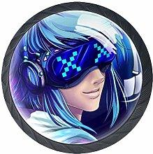Xingruyun Drawer Knobs Anime Girl (414) Round