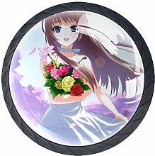 Xingruyun Drawer Knobs Anime Girl (9) Round