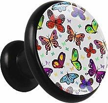 Xingruyun Drawer pulls Colorful Butterflies