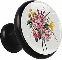 Xingruyun Drawer pulls Colorful Flowers Cabinet