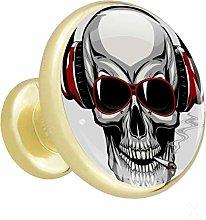 Xingruyun Drawer pulls gold Skull headphone